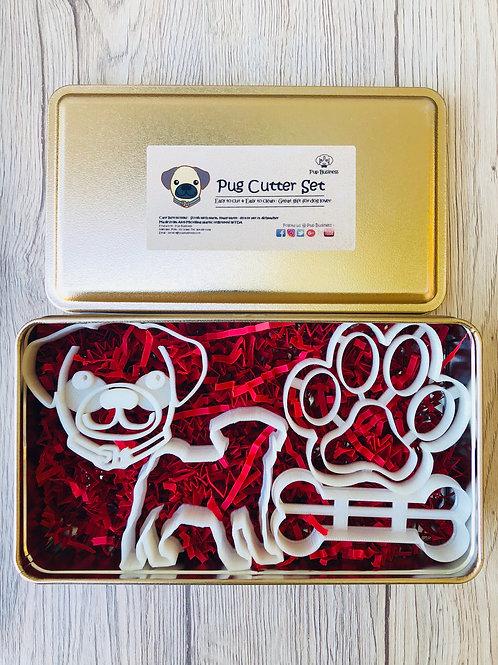 Pug Cookie Cutter Set
