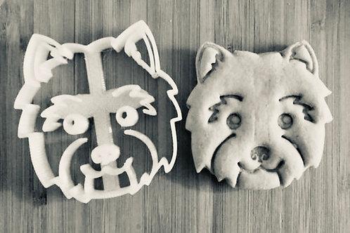 Westie cookie cutter - west highland white terrier cookie cutter - westie dog gi
