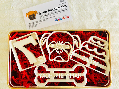 Boxer Birthday Cutter Set