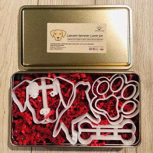 Labrador cookie cutter set