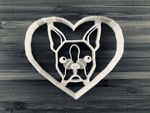 Boston Terrier In Heart Cutter
