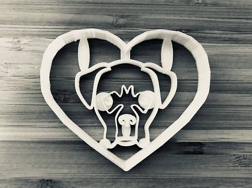 Boxer in Heart Cookie Cutter