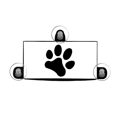 Paw print ez pass holder