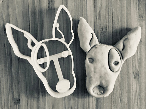Big Apple Bull Terrier Cookie Cutter - Big Apple Bullies Cookie Cutter - Big App