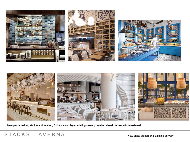 Stacks Taverna Restaurant and Bar Interior Architecture