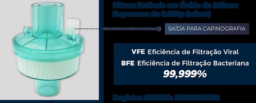 Filtro Barreira HME HEPA