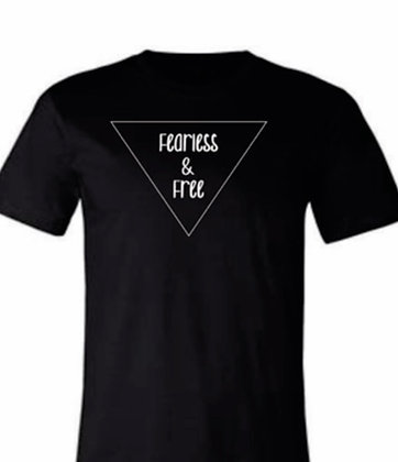 Fearless & Free Black T shirt