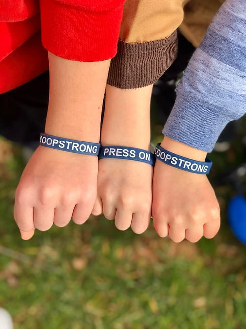 Navy & White Wristband