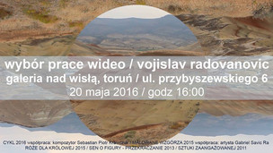 SELECTION OF VIDEO WORKS BY VOJISLAV RADOVANOVIC at Galeria nad Wisla in Torun, Poland