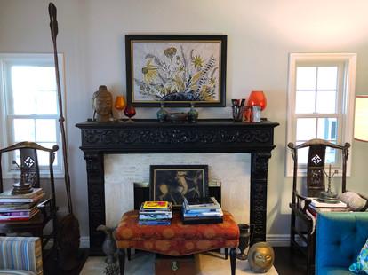 From a collector's eclectic condominium interior in Los Feliz, California