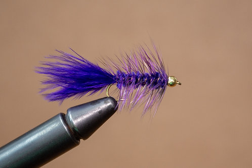 Gold Bead Wooly Bugger Purple
