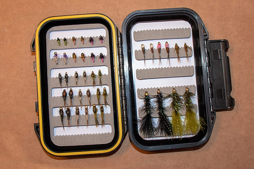 Assortment - Nymph and Bugger Starter Pack 40 Flies with Box