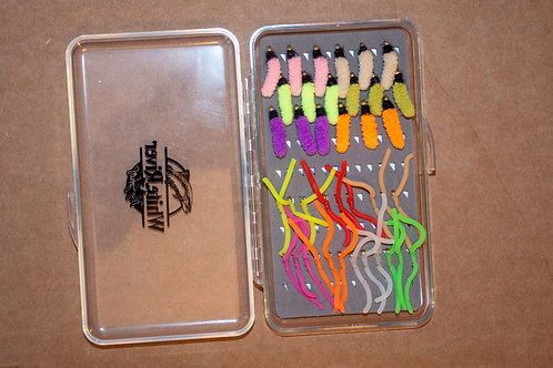 Assortment - Mop Flies and Squirmy Wormies 39 Flies Plus Box