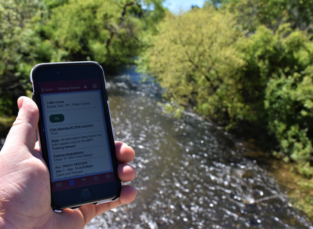 Maps and Apps for Trout Fishing