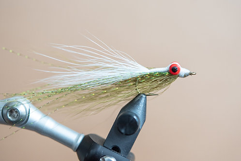 Clouser Minnow - Olive and White