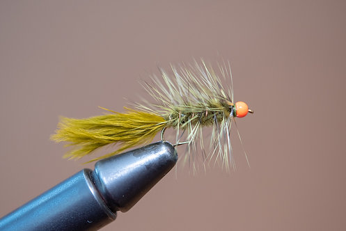 Hot Head Wooly Bugger Olive