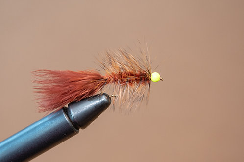 Hot Head Wooly Bugger - Brown