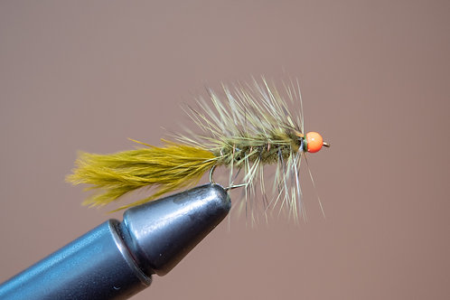 Hot Head Wooly Bugger - Olive
