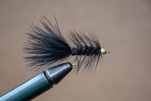 Gold Bead Wooly Bugger Black