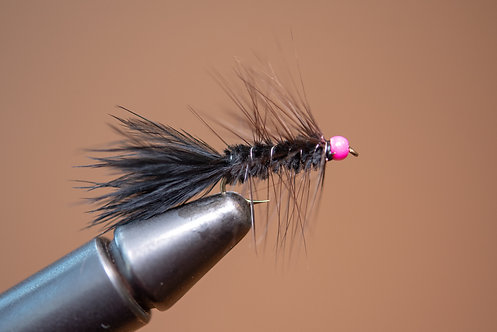 Hot Head Wooly Bugger Black