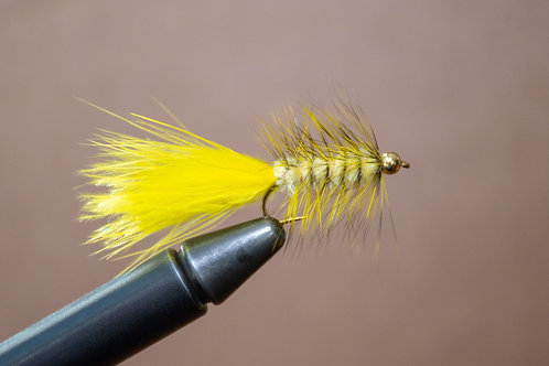 Gold Bead Wooly Bugger - Yellow