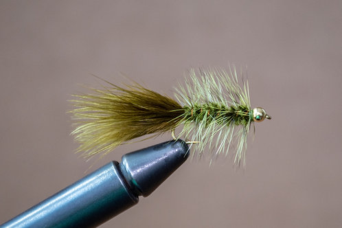 Gold Bead Wooly Bugger Olive