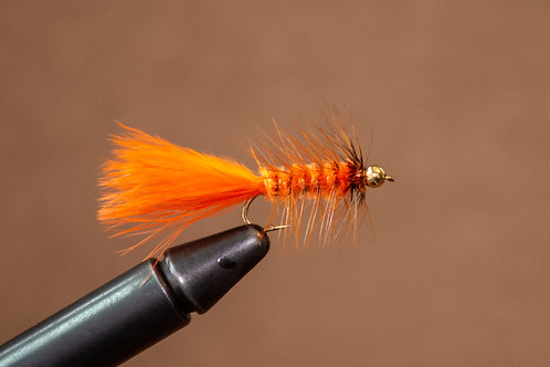 Gold Bead Wooly Bugger Orange