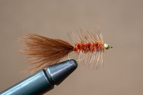 Gold Bead Wooly Bugger Brown