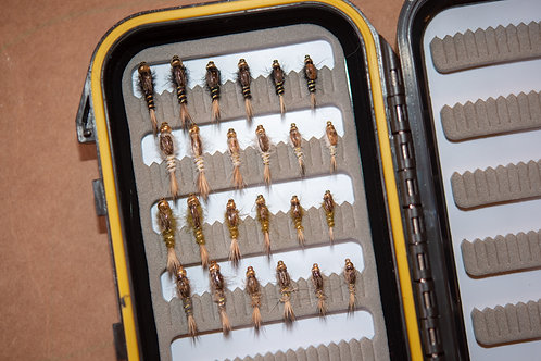 Assortment - Hare's Ear Nymphs Sizes 12-16 (24 flies)