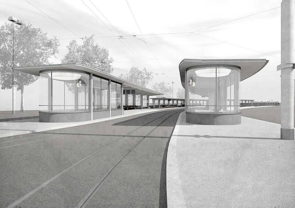 Wir freuen uns über den 1. Rang. Wettbewerb Haltestelle Bahnhofquai, Zürich. (mit Ferrari Gartman AG, Bauingenieure)