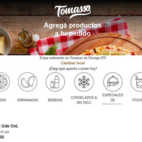 Tomasso lanza tienda virtual para realizar pedidos y retirar por el local más cercano