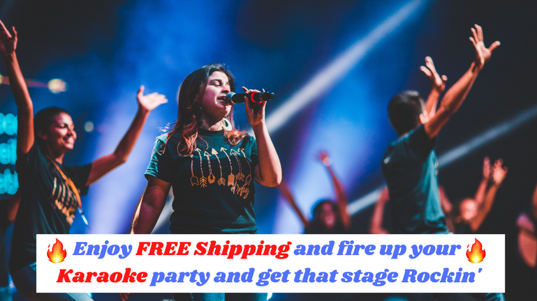 Enjoy FREE Shipping And Get Your Karaoke Party On Fire