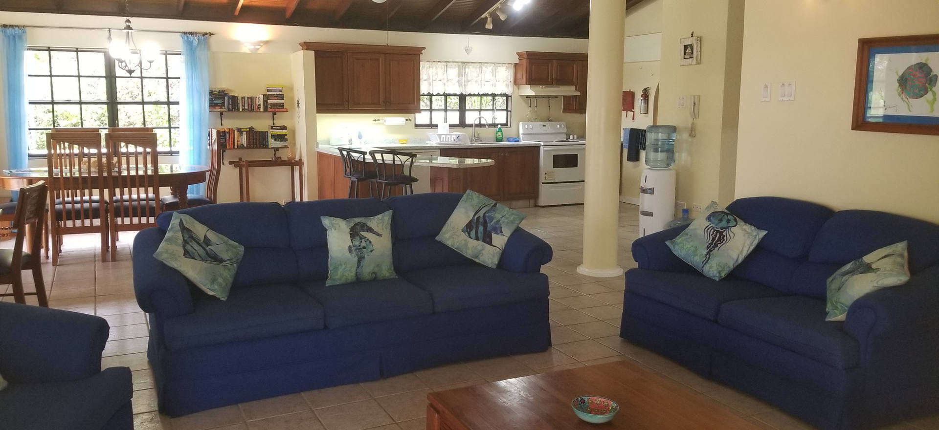Living area through to kitchen