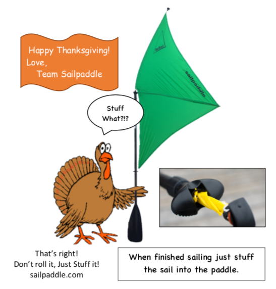Happy Thanksgiving!  Go ahead and just stuff your sail.