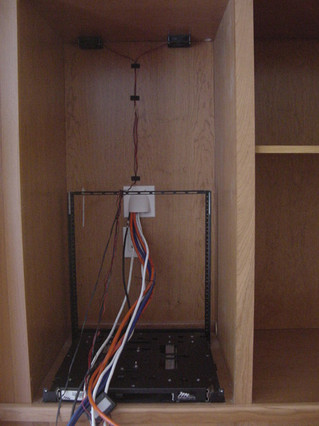 Costello pull-out rack shell in cabinet - June 2004.JPG
