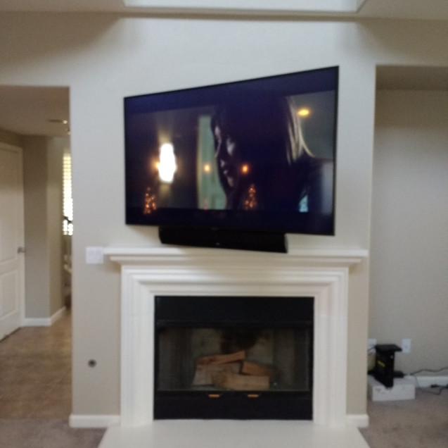 Fejarang job - Fireplace TV Recess (13)