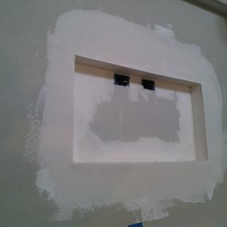 Fejarang job - Fireplace TV Recess - Mudded drywall recess