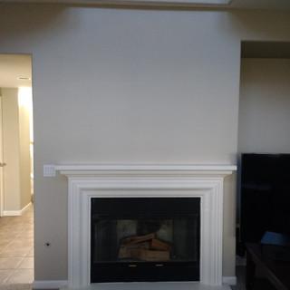 Fejarang job - Fireplace TV Recess - Before