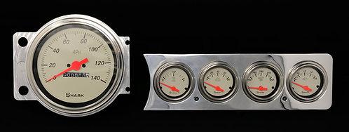 """1941-1948 Chevy Car FM 5 Hole 5""""S  Shark"""