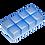 Thumbnail: Lurch Eisformer Würfel 5 x 5 cm eisblau