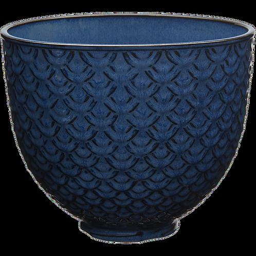 KitchenAid Keramikschüssel 4,7 L blau strukturiert