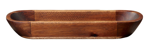 ASA wood dark ovale Schale  akazie