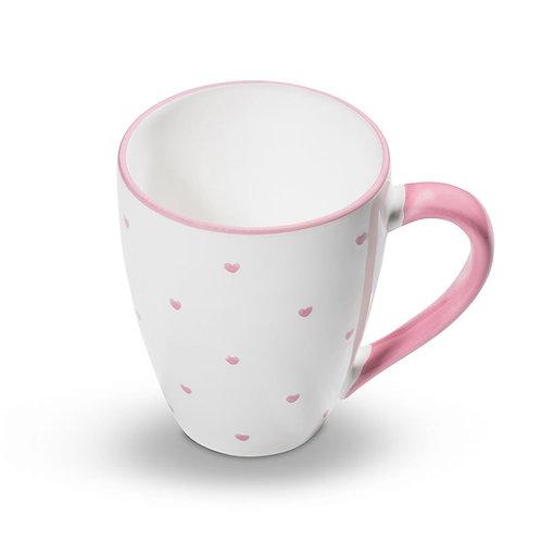 Gmundner Keramik Herzerl Rosa Frühstücksbecher