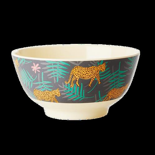 "Rice Melamin Bowl Schüssel ""Leopard and Leaves print"""