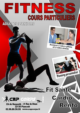 AFFICHE cours particulier fitness 2021 B