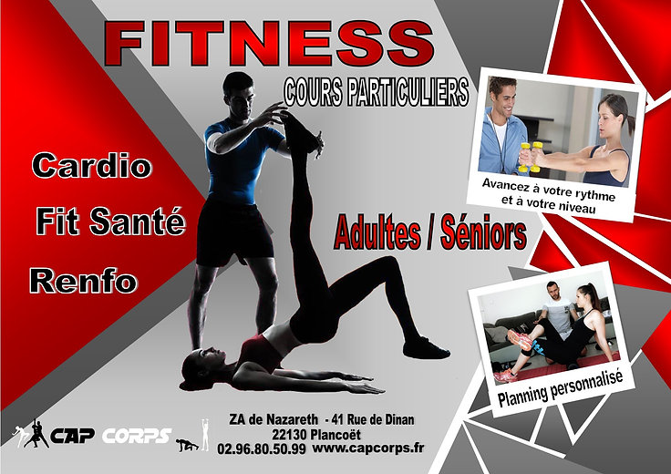 AFFICHE cours particulier fitness 2021 P