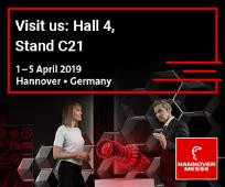 01/04/2019 Vmech è in fiera ad Hannover Messe - Pad.4 Stand C21