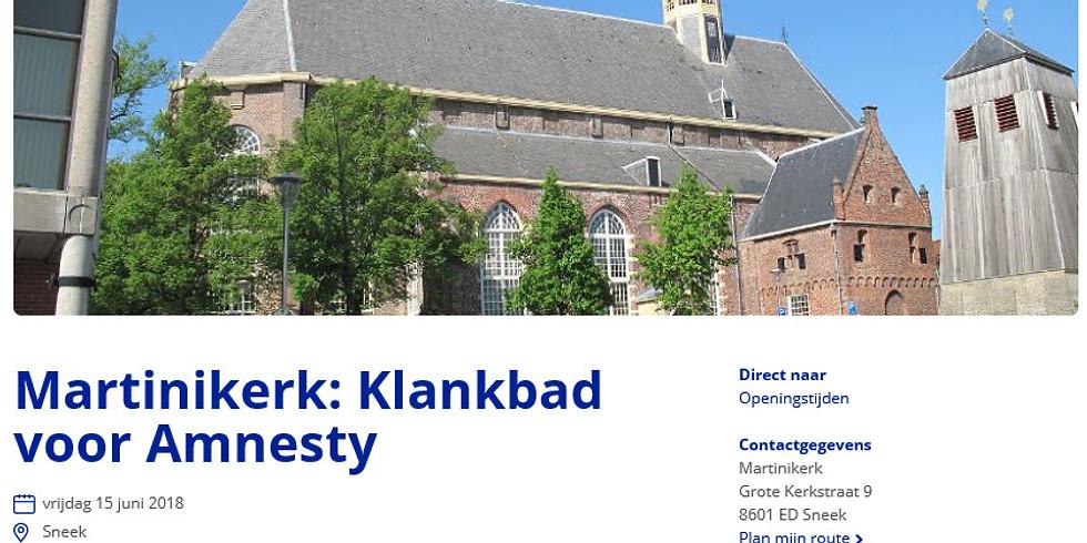Martinikerk: Klankbad voor Amnesty