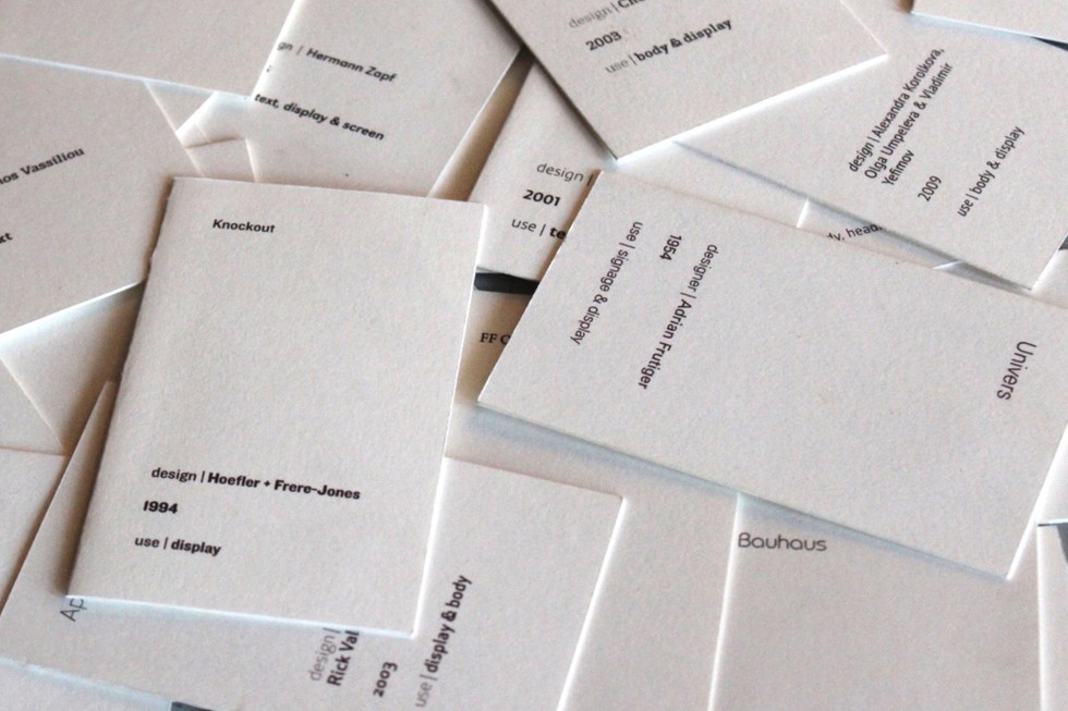 pile of cards - back