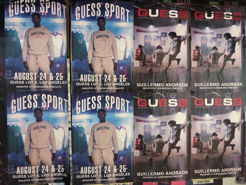 Guess Sport + Guillermo Andrade Wheat Pastings